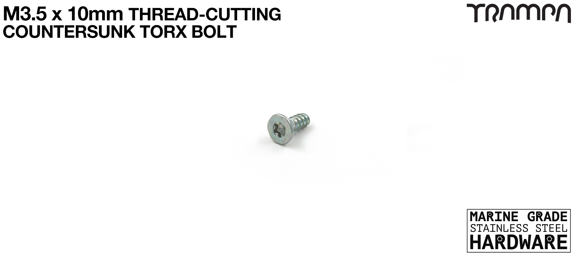 3.5x10mm Countersunk Stainless steel Plastic EJOT Screws