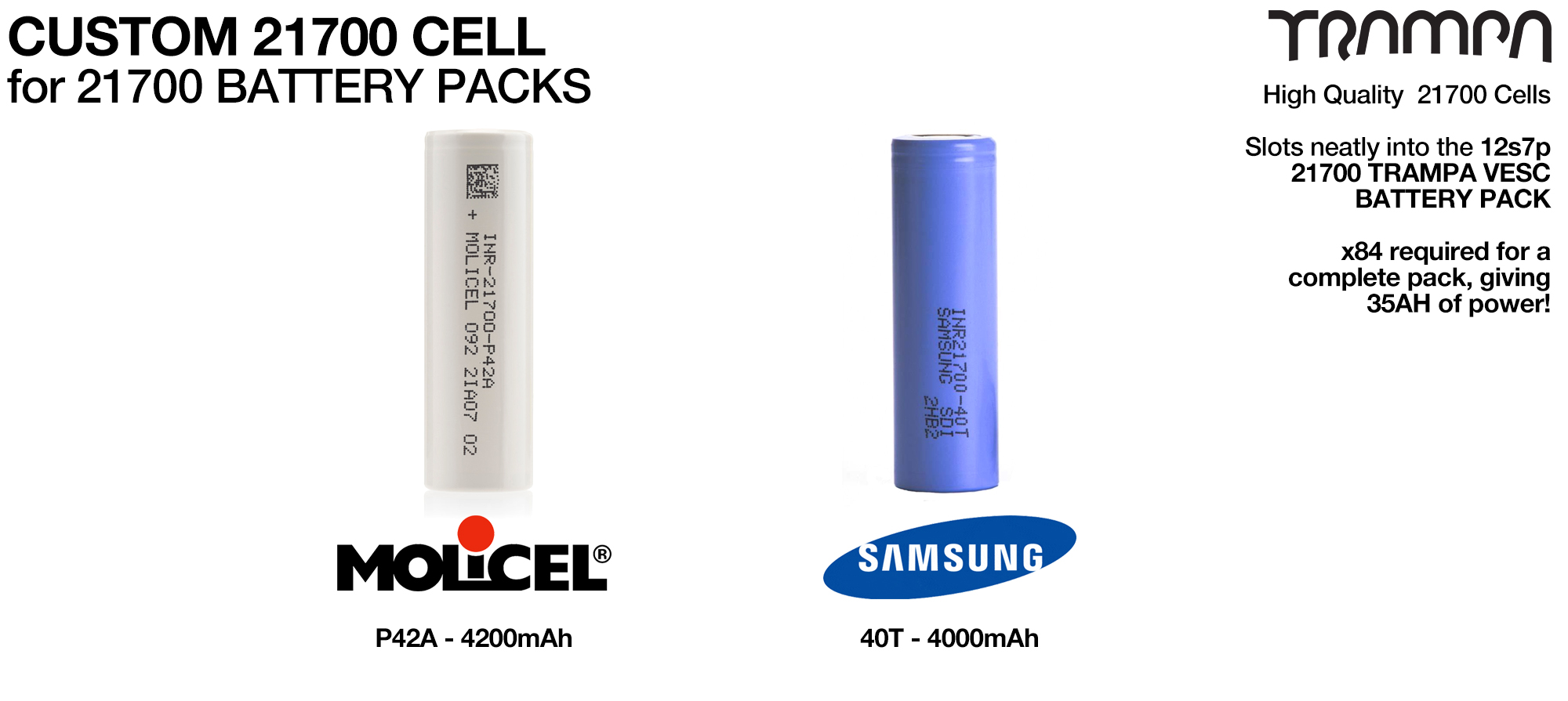 21700 Cells Lion NCA Batteries - SOLD TO UK CUSTOMERS ONLY
