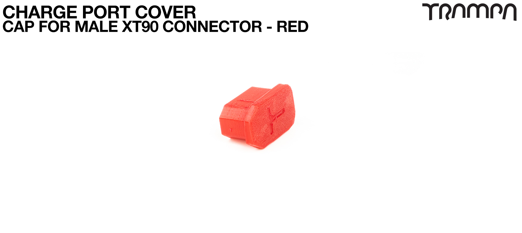 Charge Port Cover - CAP for Male XT90 Connector RED