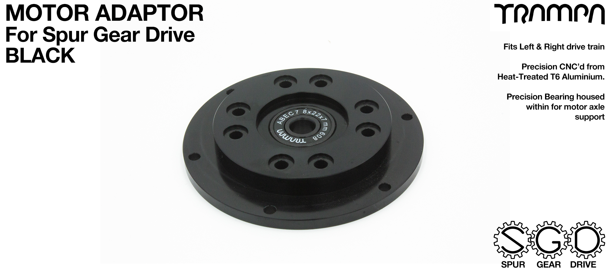 Motor Adapter Plate - BLACK