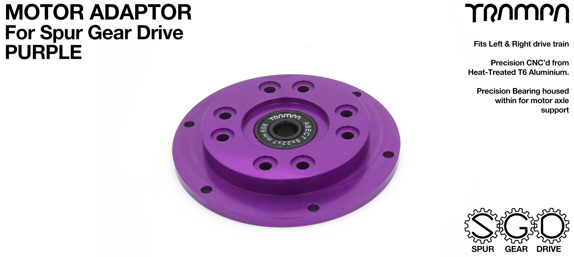MkII Spur Gear Drive Motor Adaptor PURPLE