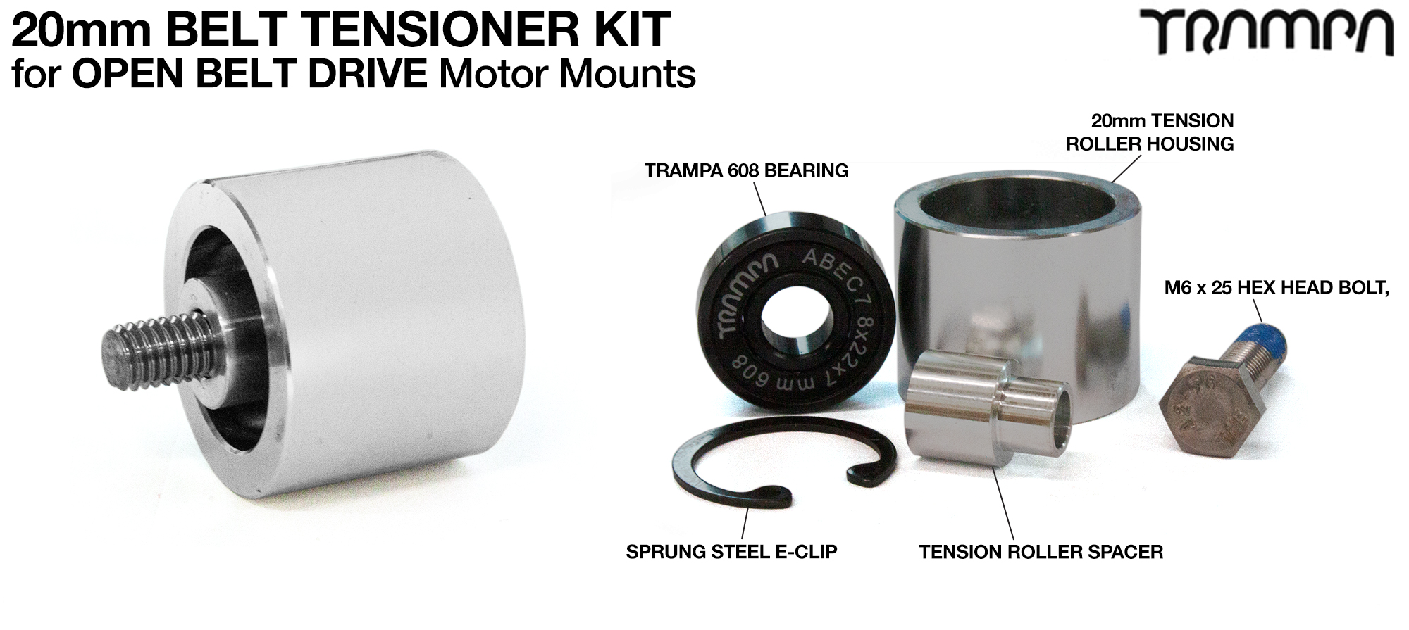 SILVER OBD 20mm Belt Tensioner