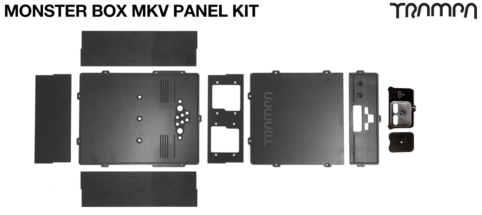 MONSTER Box Carbon Fiber Panel Kit MkIV with internal chamber for TWIN VESC