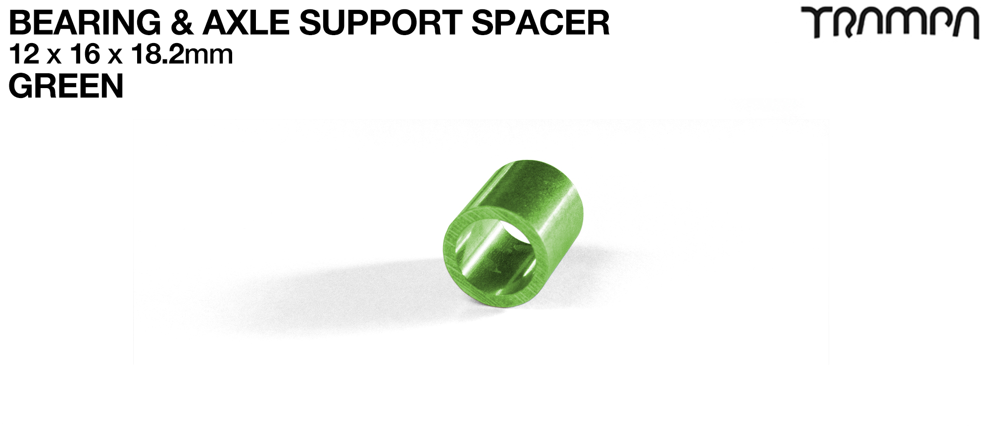 GREEN 18.2mm Wheel Support Axle Spacers