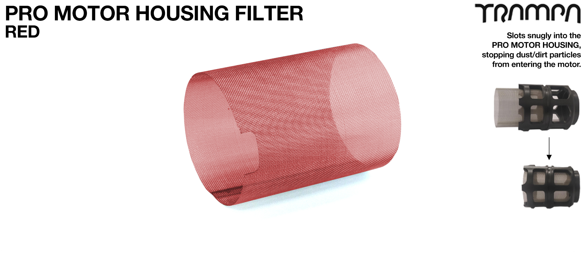 MkII Motor Protection Cover MESH FILTER - RED