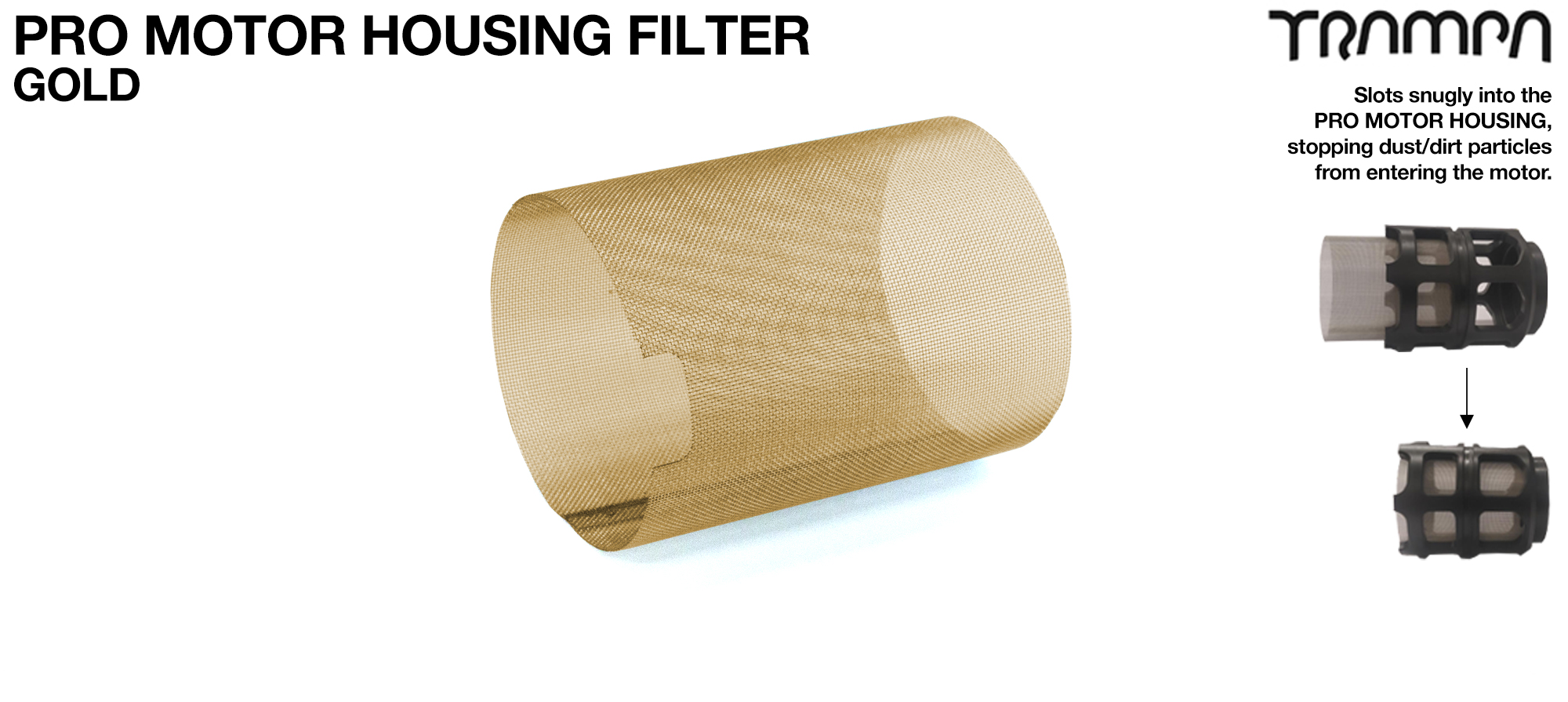 MkII Motor Protection Cover MESH FILTER - GOLD