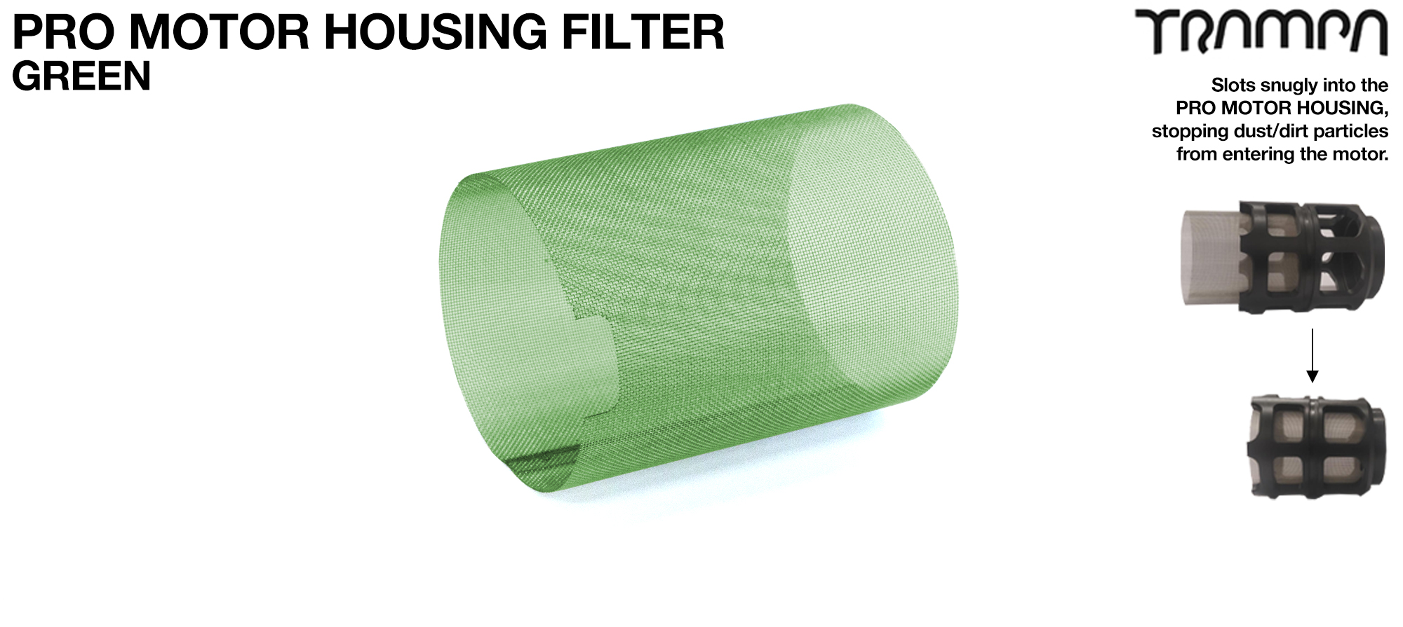 MkII Motor Protection Cover MESH FILTER - GREEN