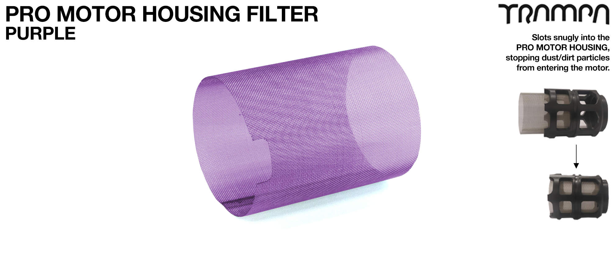 MkII Motor Protection Cover MESH FILTER - PURPLE