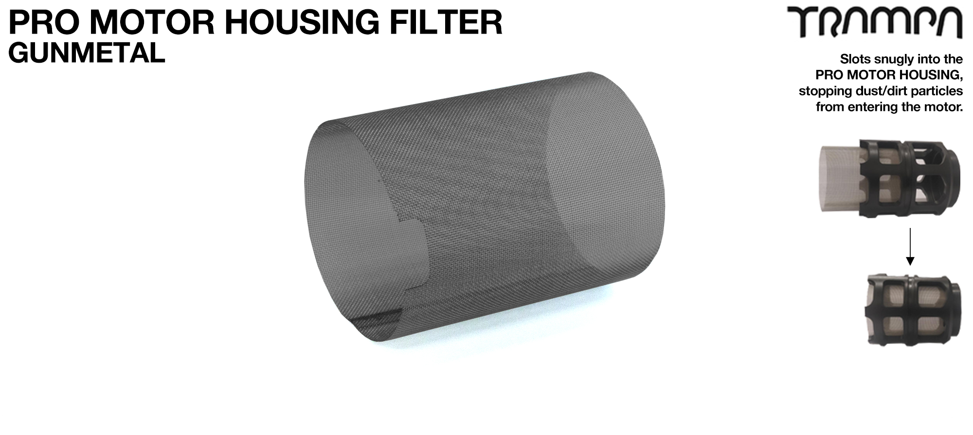 MkII Motor Protection Cover MESH FILTER - GUNMETAL