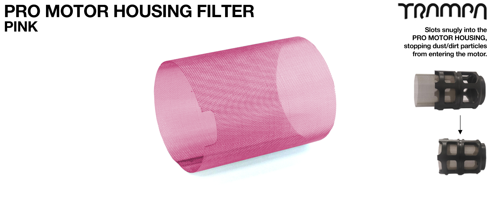 MkII Motor Protection Cover MESH FILTER - PINK