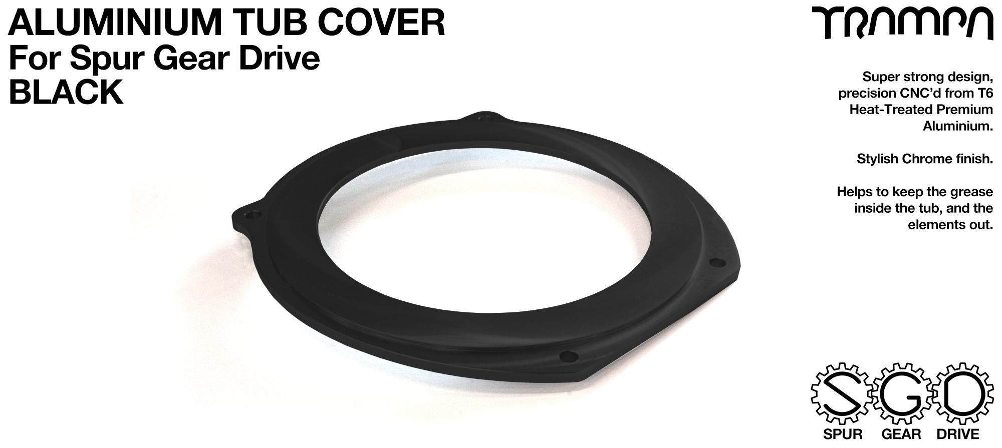 TRAMPA MKII Spur Gear Drive T6 Aluminium Tub Cover - BLACK