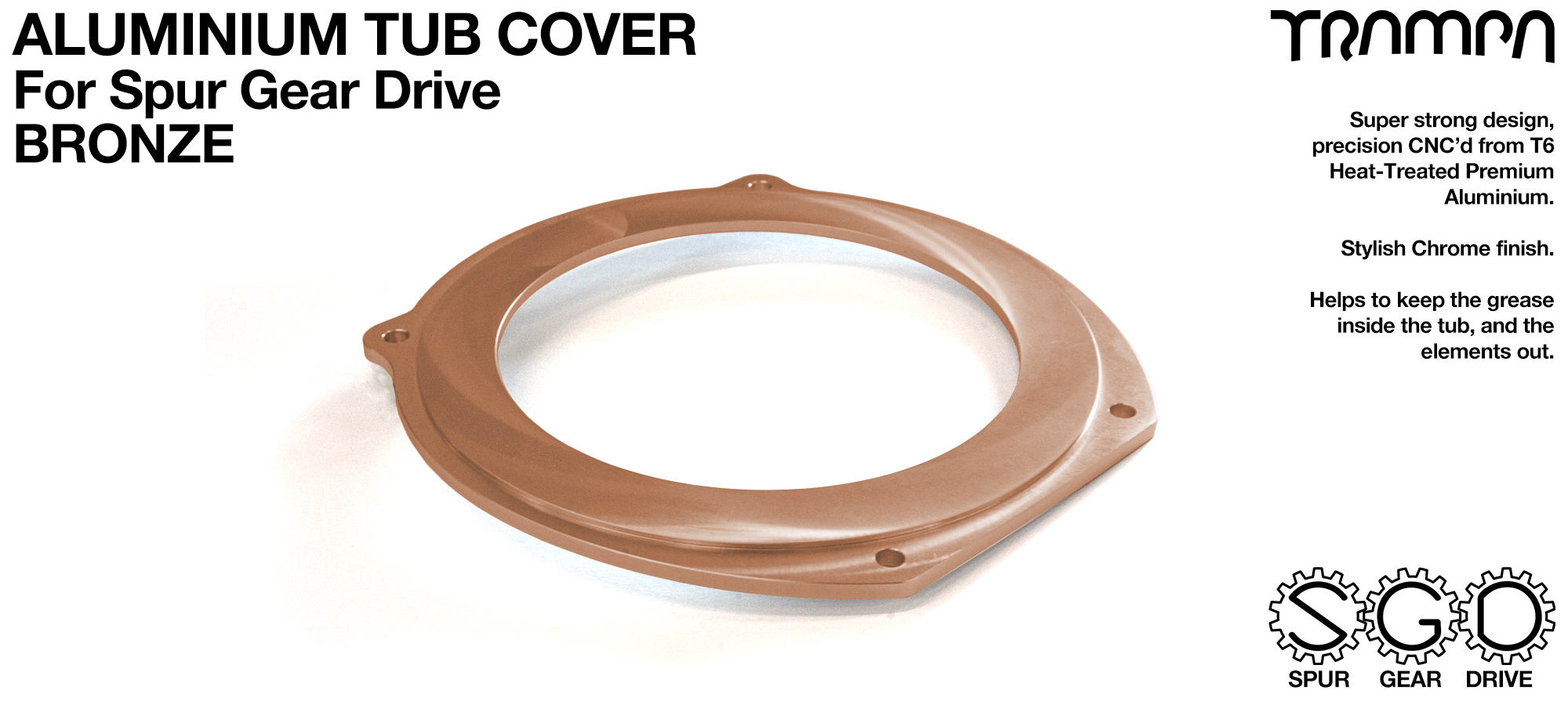 Spur Gear Drive Tub Cover - BRONZE