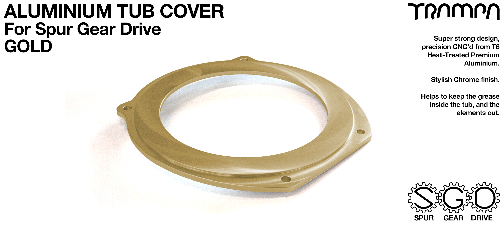 Spur Gear Drive Tub Cover - GOLD