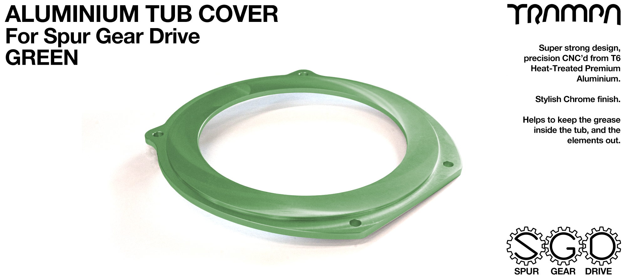 Spur Gear Drive Tub Cover - GREEN