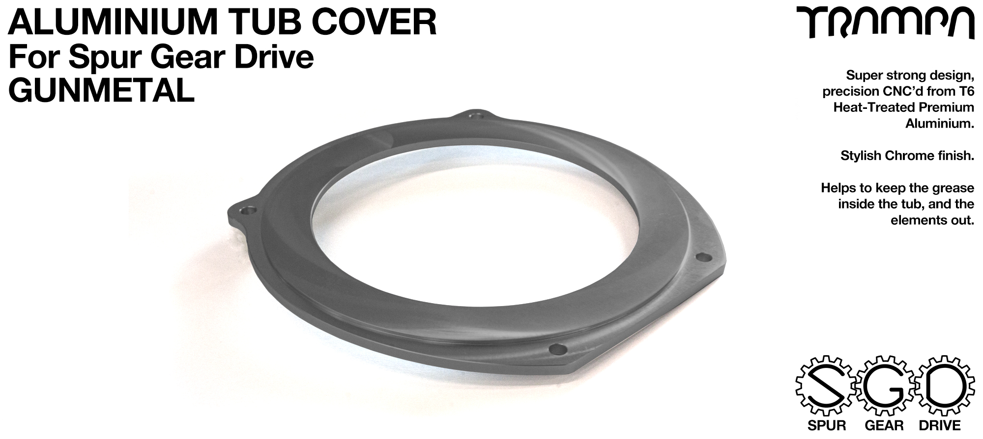 Spur Gear Drive Tub Cover - GUNMETAL