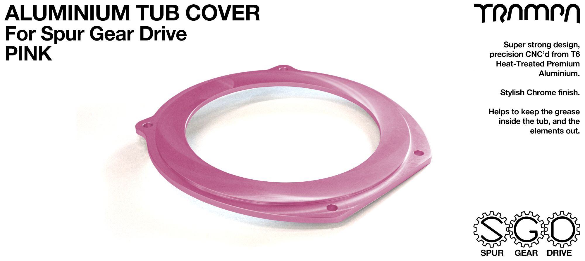 Spur Gear Drive Tub Cover - PINK