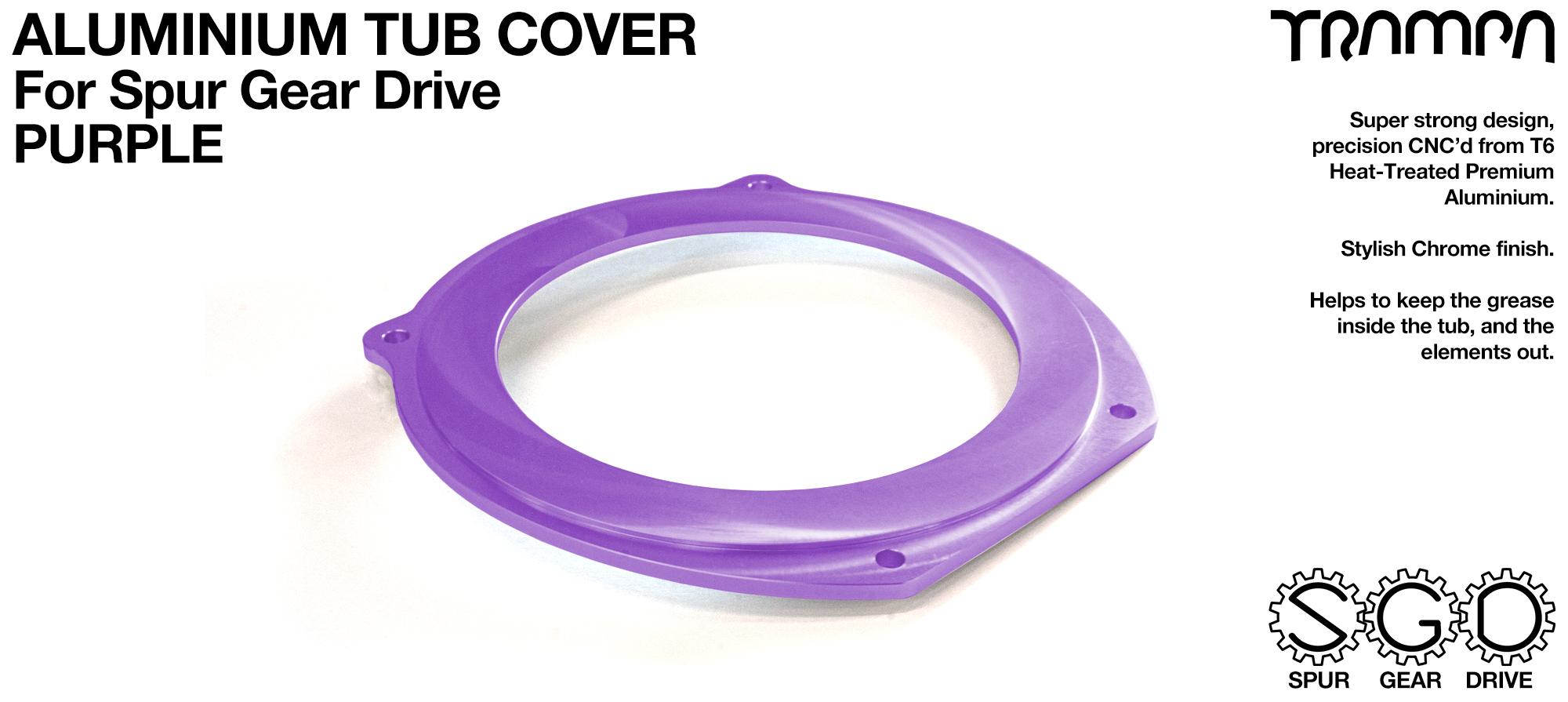 TRAMPA MKII Spur Gear Drive T6 Aluminium Tub Cover - PURPLE