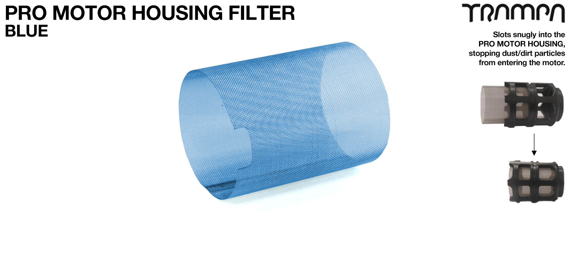MkII Motor Protection Cover MESH FILTER - BLUE