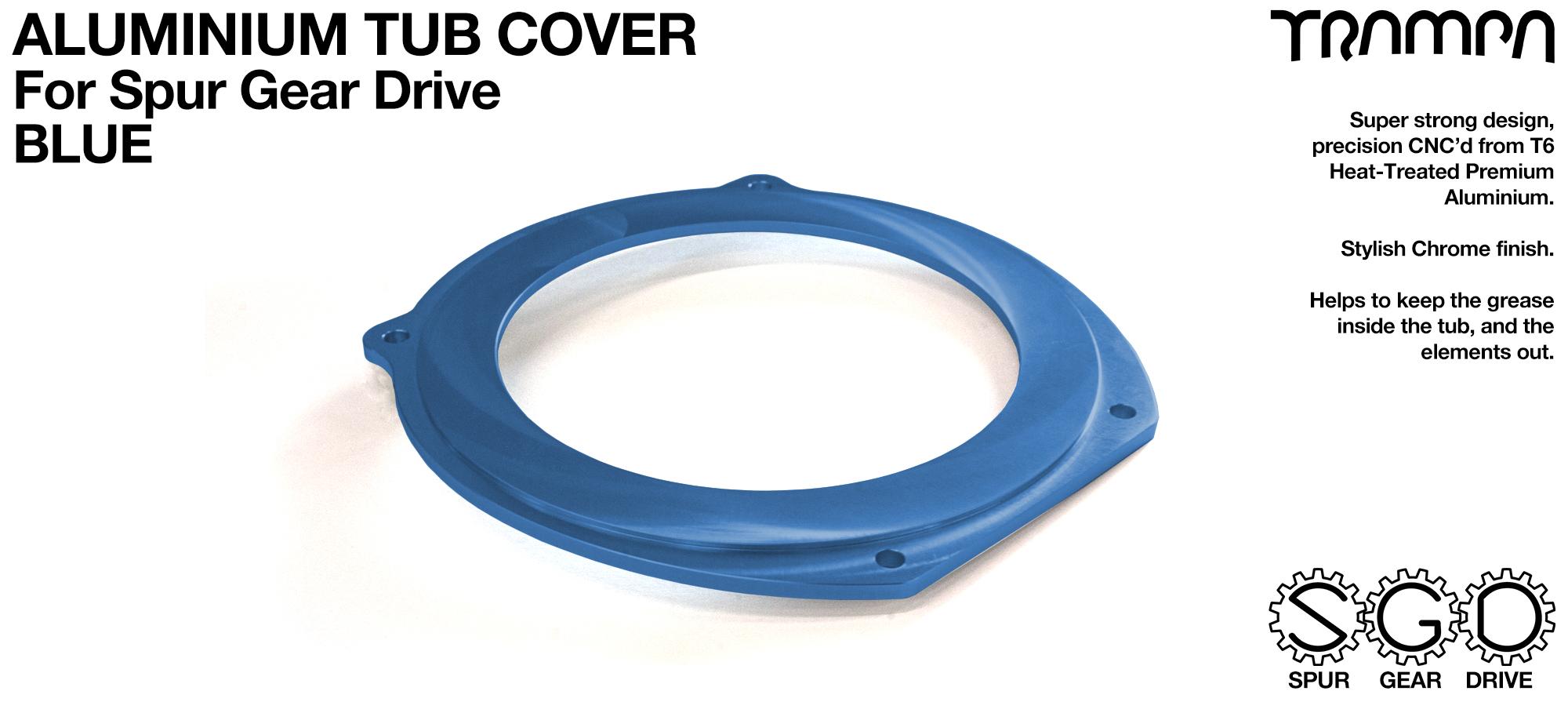 TRAMPA MKII Spur Gear Drive T6 Aluminium Tub Cover - BLUE