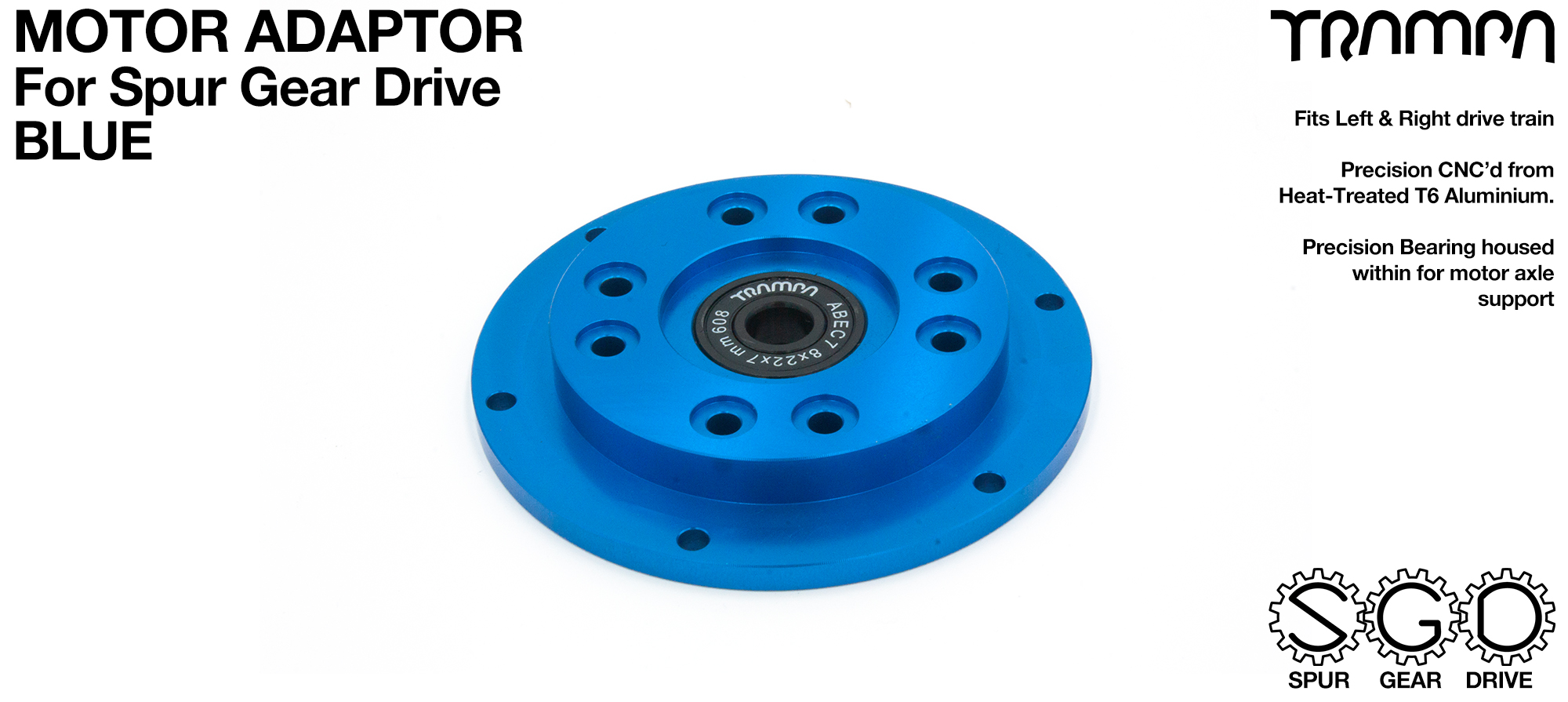Motor Adapter Plate - BLUE