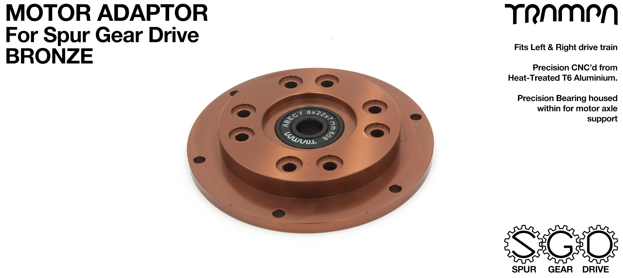 Motor Adapter Plate - BRONZE