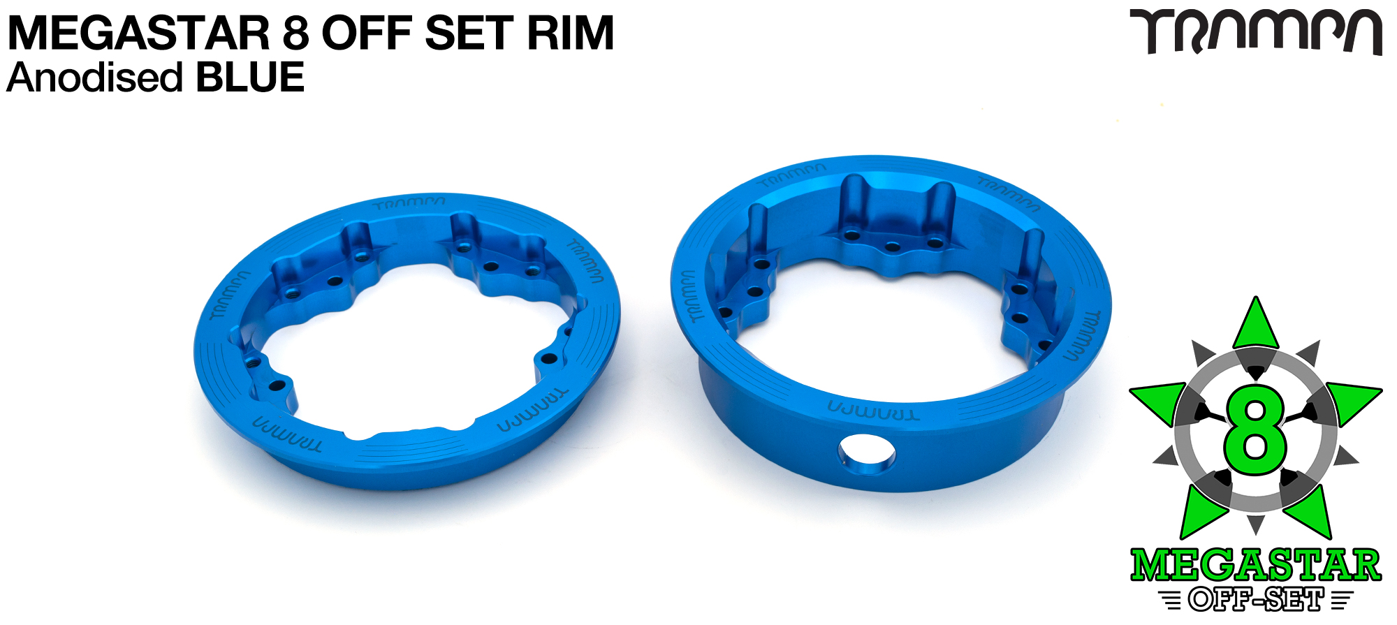 CENTER-SET 8 inch MEGASTAR Rims - BLUE