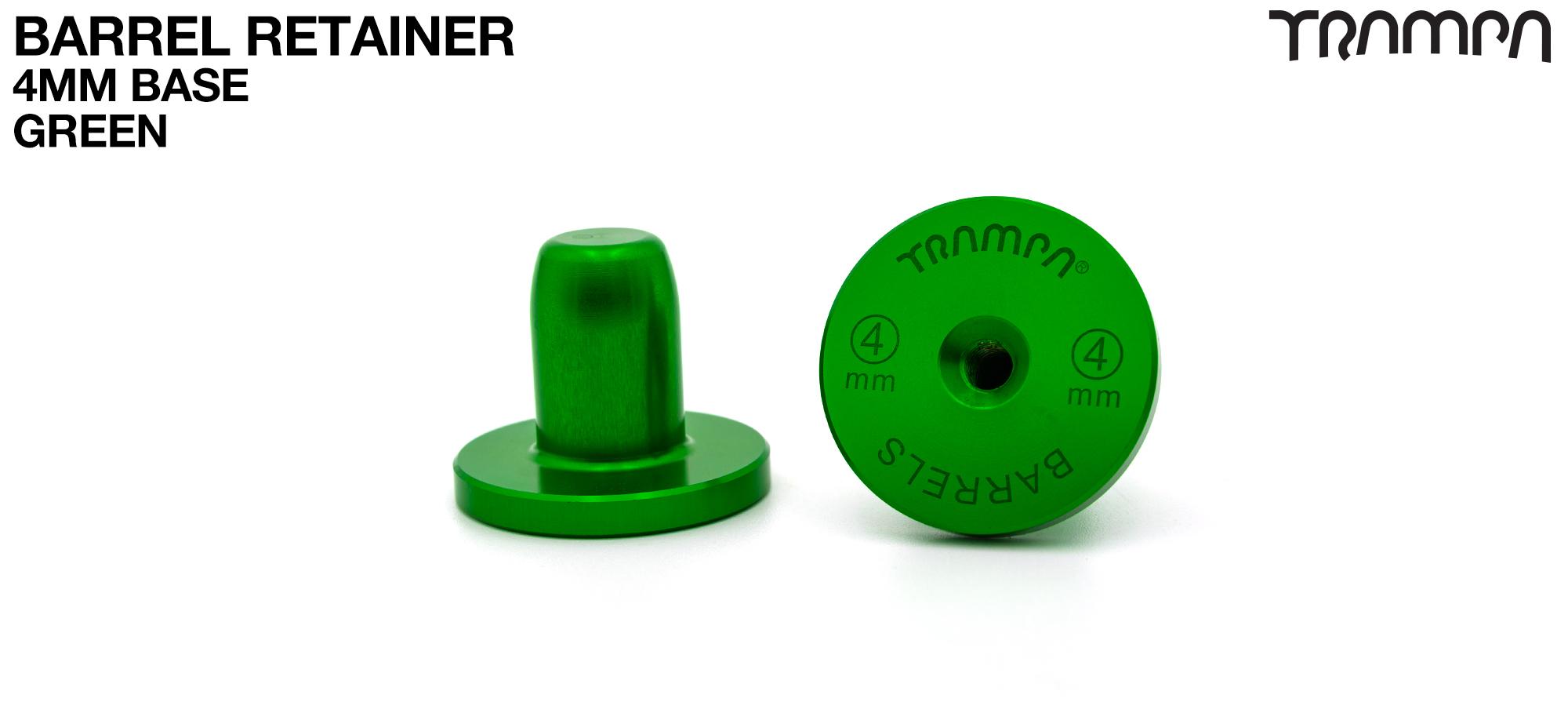 BARRELS Retainer 4mm BASE - GREEN