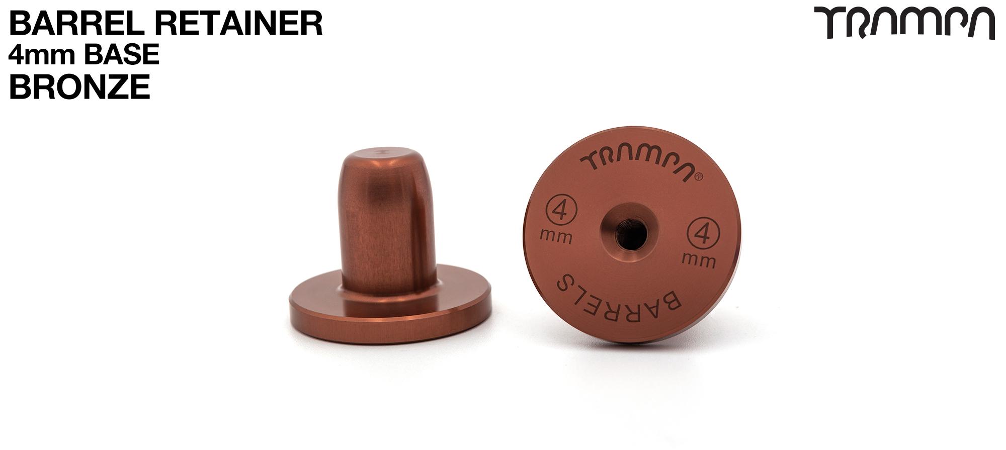 BARRELS Retainer 4mm BASE - BRONZE
