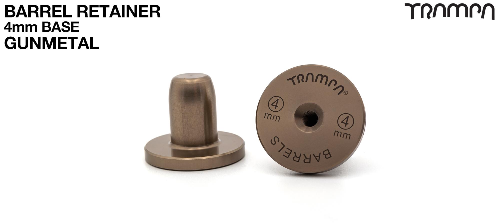 BARRELS Retainer 4mm BASE - GUNMETAL