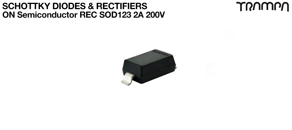 Schottky Diodes & RectifiersON Semiconductor REC SOD123 2A 200V