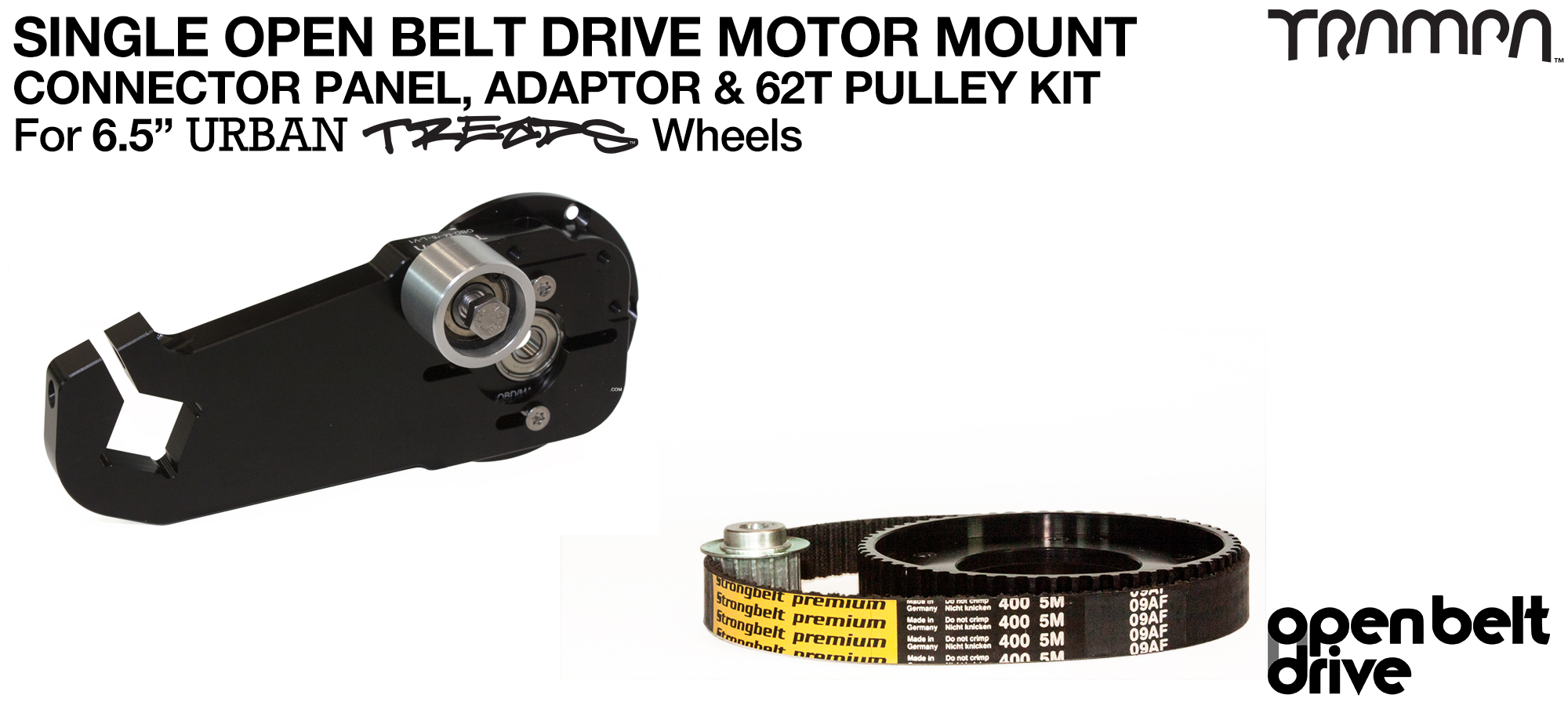 66T OBD Motor Mount & 62 tooth Pulley - SINGLE