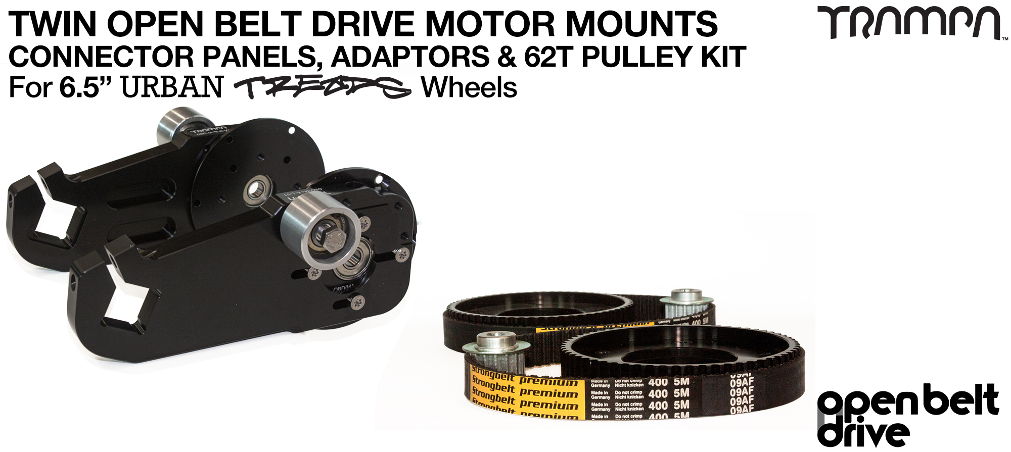 66T OBD Motor Mount & 62 tooth Pulley - TWIN
