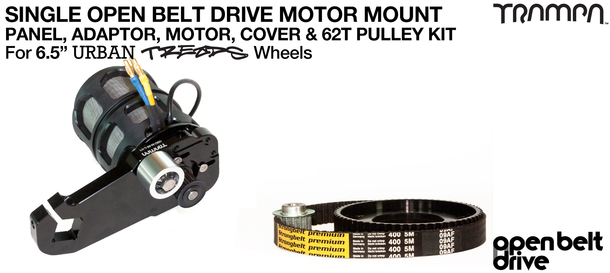 66T OBD Motor Mount with 62Tooth Pulley kit, Motor & Filters  - SINGLE
