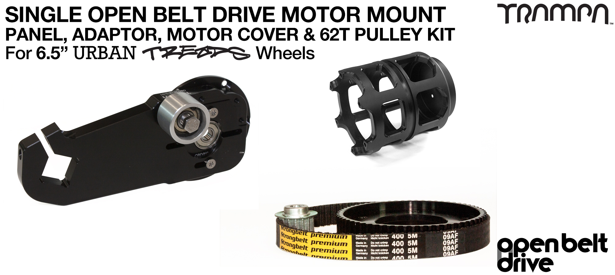 66T OBD Motor Mount with 62Tooth Pulley kit & Motor Filters - SINGLE