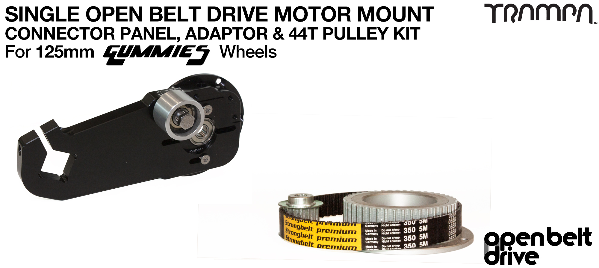 66T OBD Motor Mount & 44 tooth Pulley for GUMMY Wheels - SINGLE