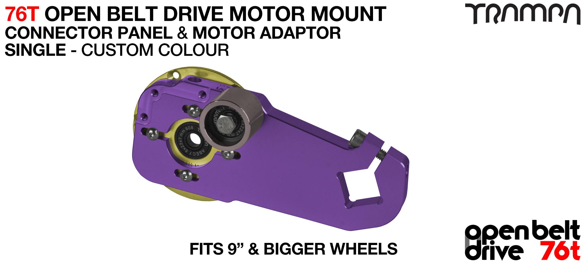 76T Open Belt Drive Motor Mount & Motor Adaptor - SINGLE