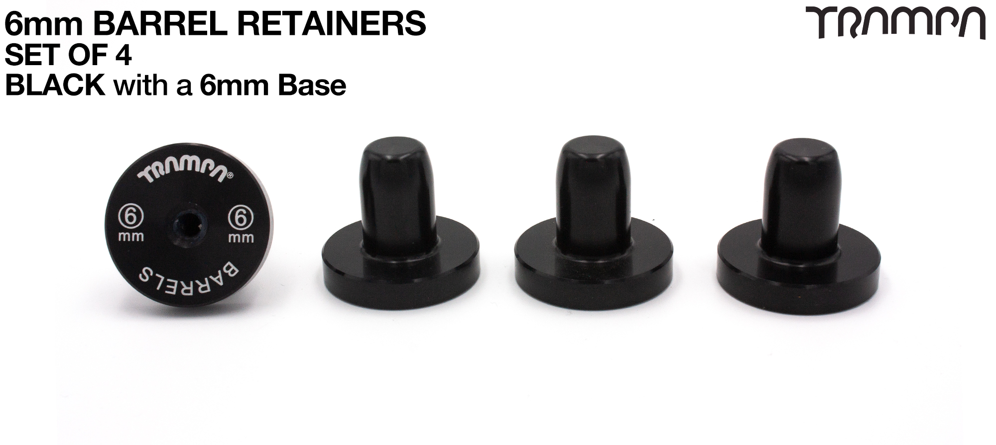 Barrel Retainers x4 with 6mm Base