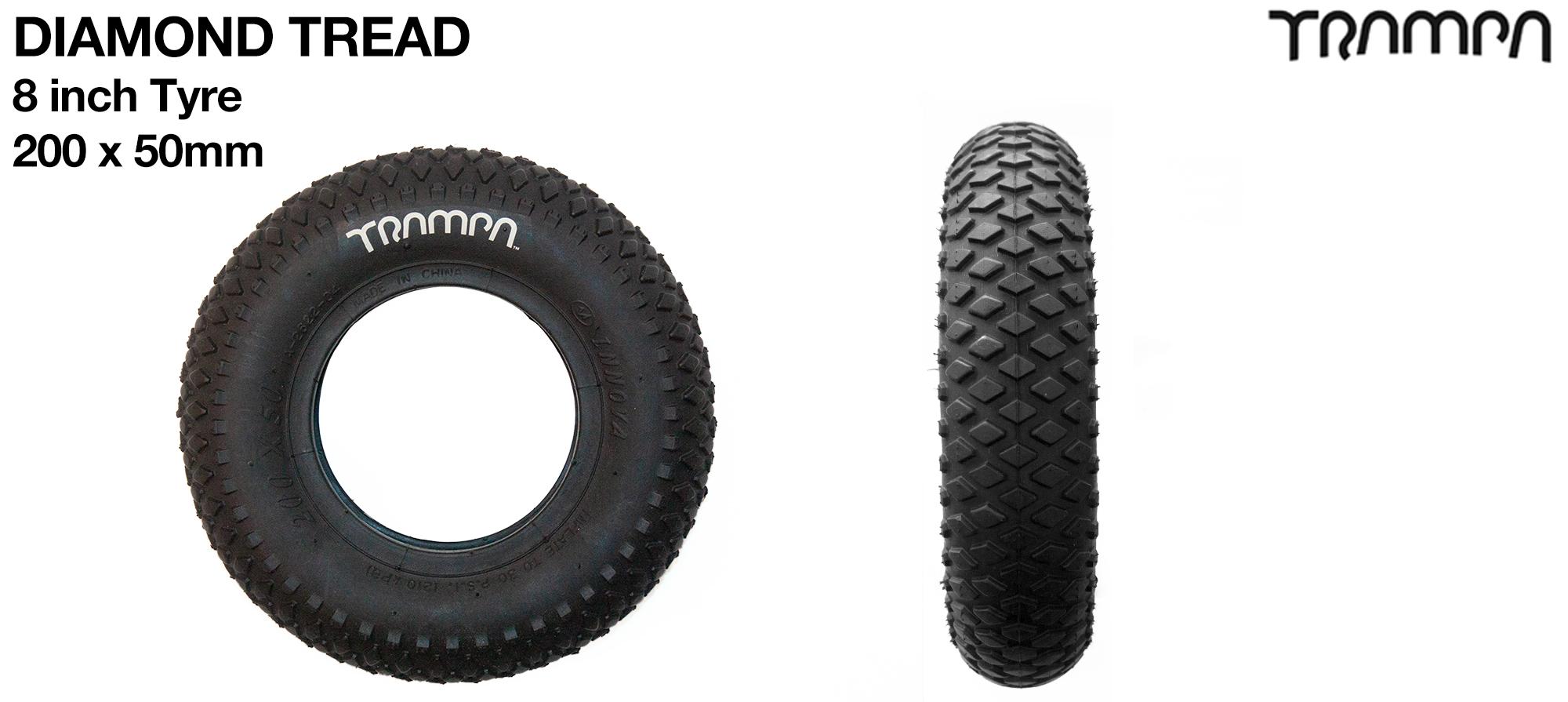 8 Inch DIAMOND TREAD Tyre
