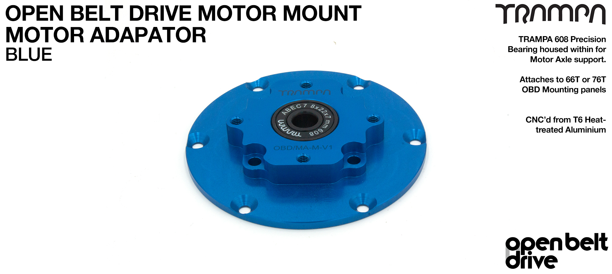 OBD Motor Adaptor with Housed Bearing - BLUE