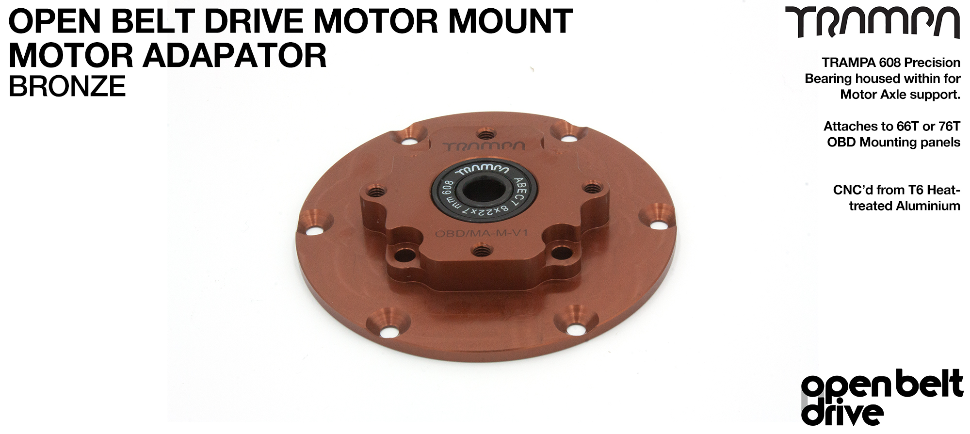 BRONZE OBD Motor Adaptor with Housed Bearing