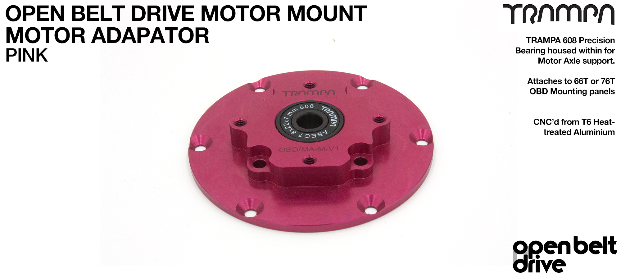 PINK OBD Motor Adaptors with Housed Bearing