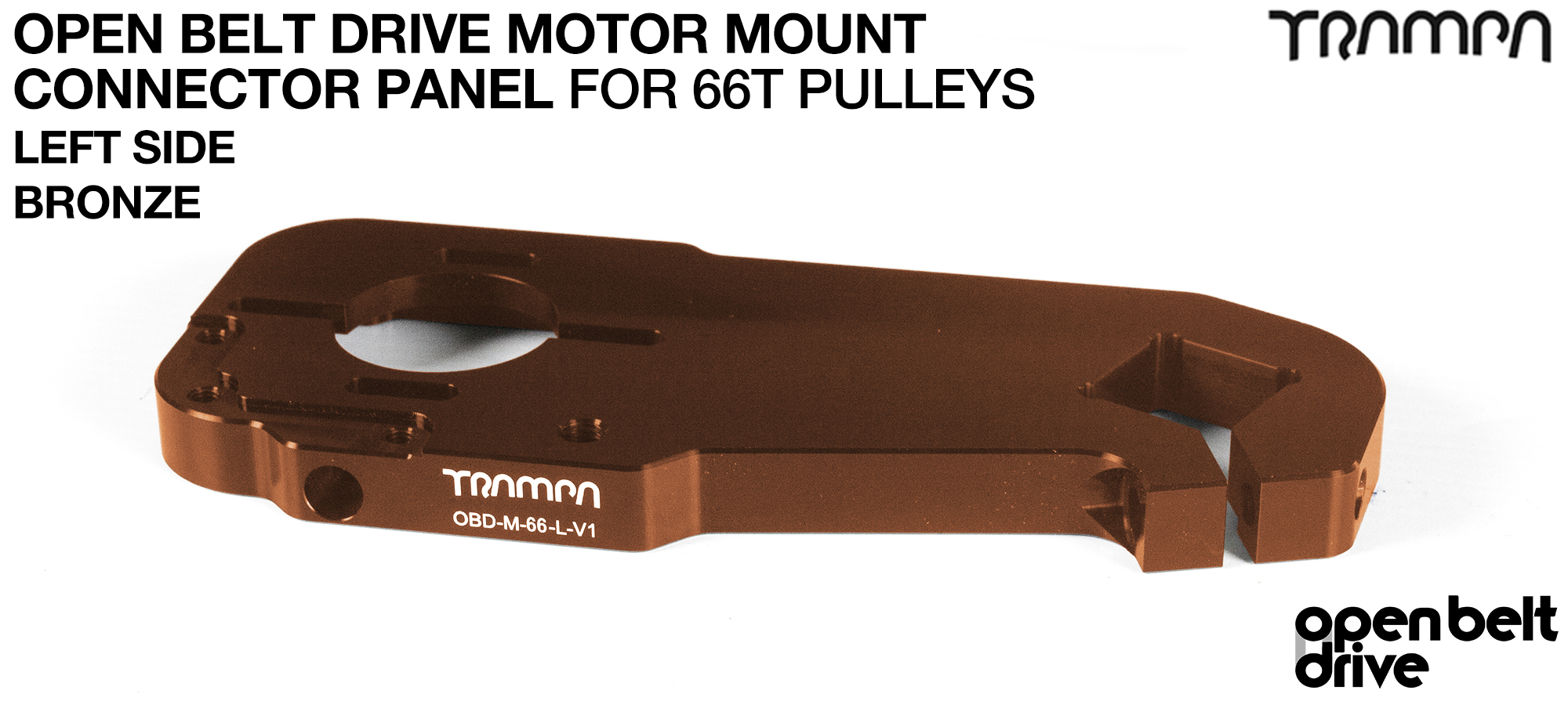 OBD Motor Mount Connector Panel for 66 tooth Pulleys - REGULAR - BRONZE