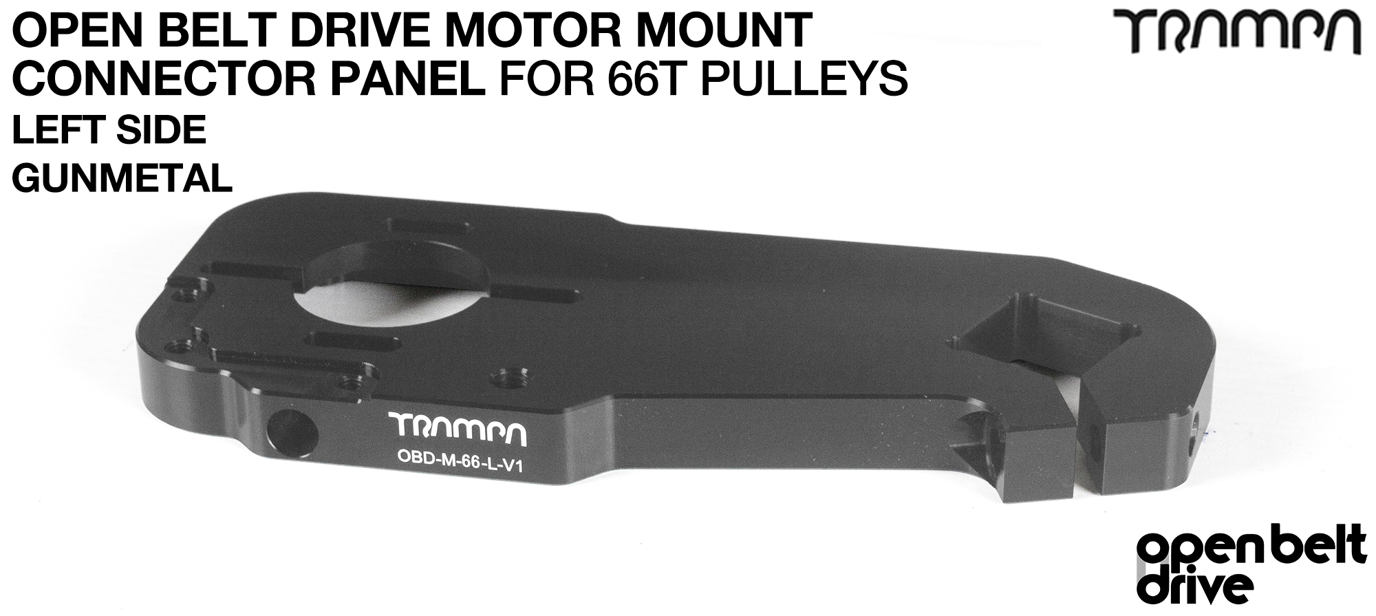 GUNMETAL 66T TWIN OBD Motor Mount Panels