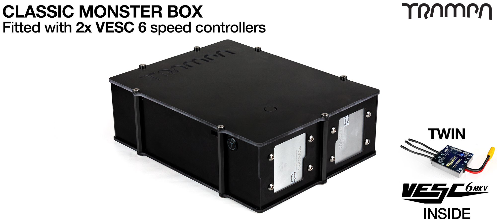 MASSIVE MONSTER Box with 2x VESC 6 & 21700 Cell pack - No Cells (+£300)