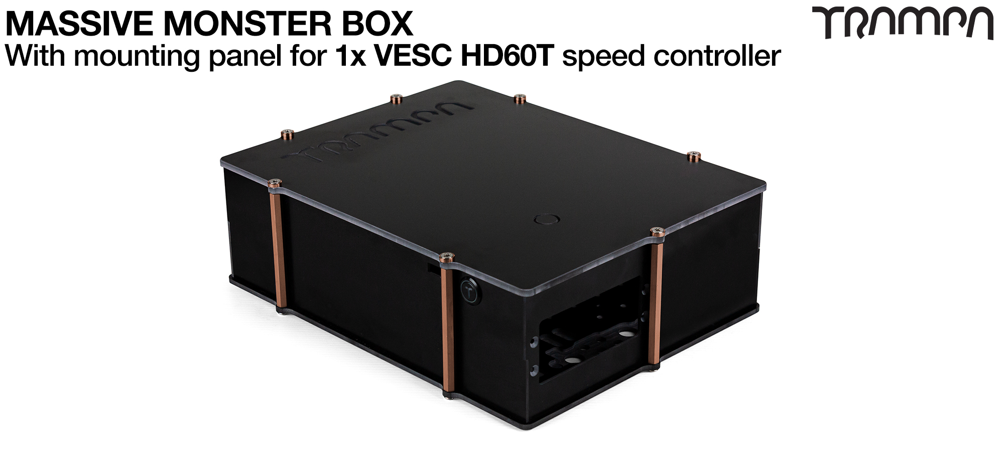 21700 MASSIVE MONSTER Box with 1x VESC HD-60Twin Mounting Panel