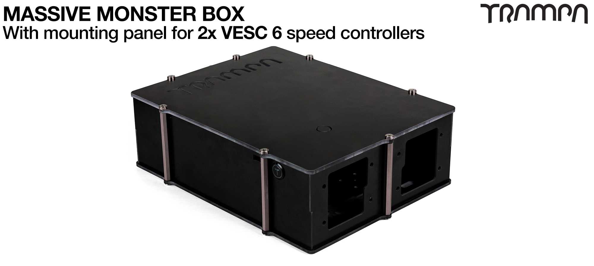 21700 2WD MASSIVE MONSTER Box with 2x VESC 6 Mounting Panel