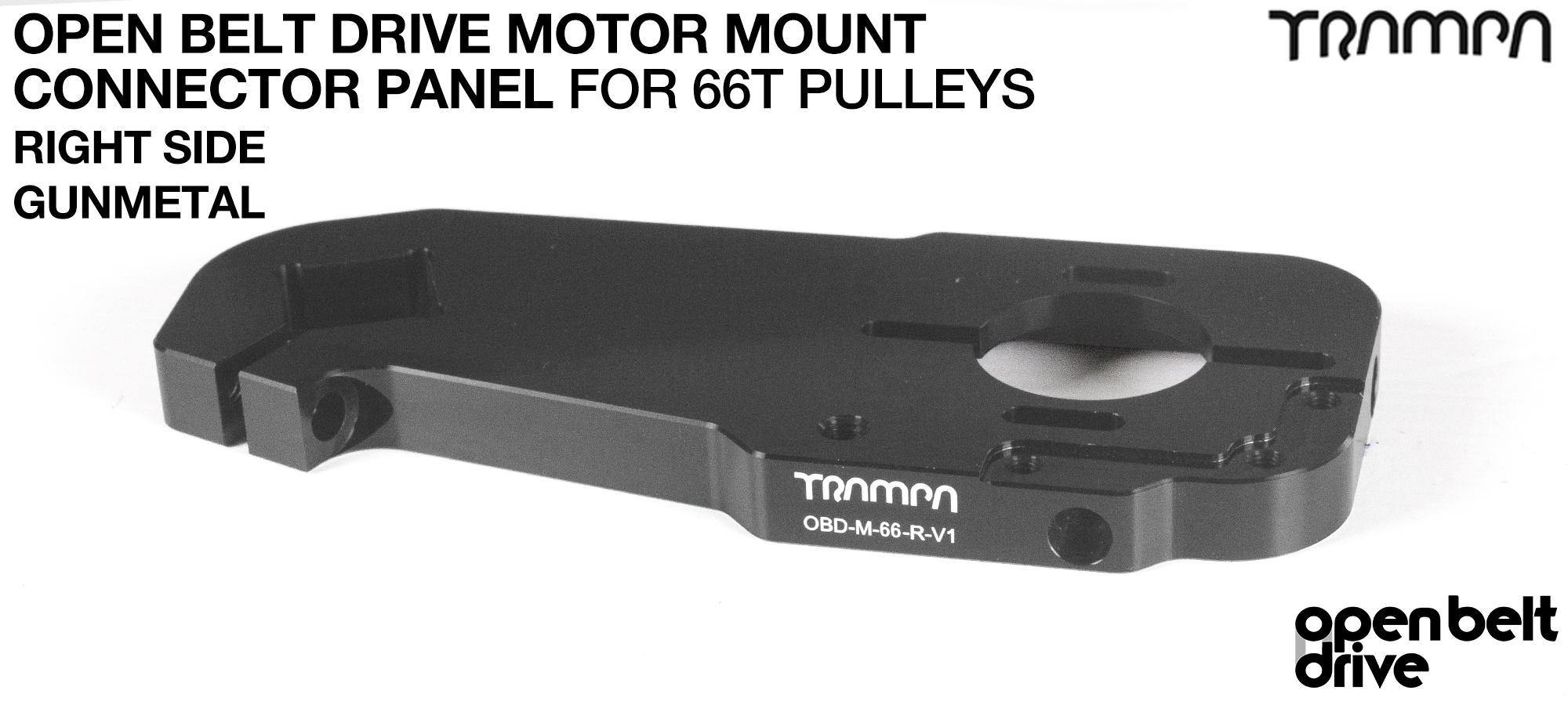 GUNMETAL 66T GOOFY OBD Motor Mount Connector Panel