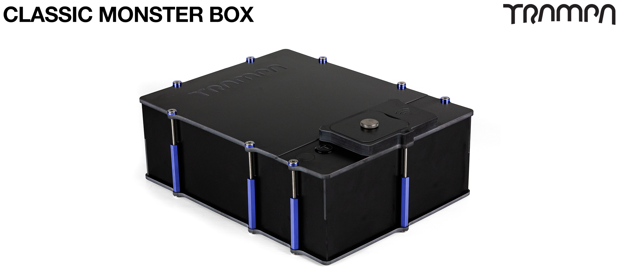 Classic MONSTER Box MkIV fits 84x 18650 cells to give 12s7p 21A or 2x22000 mAh Lipos & has Panels to fit any of the TRAMPA VESC Speed controllers, NO VESC Mounting Panel