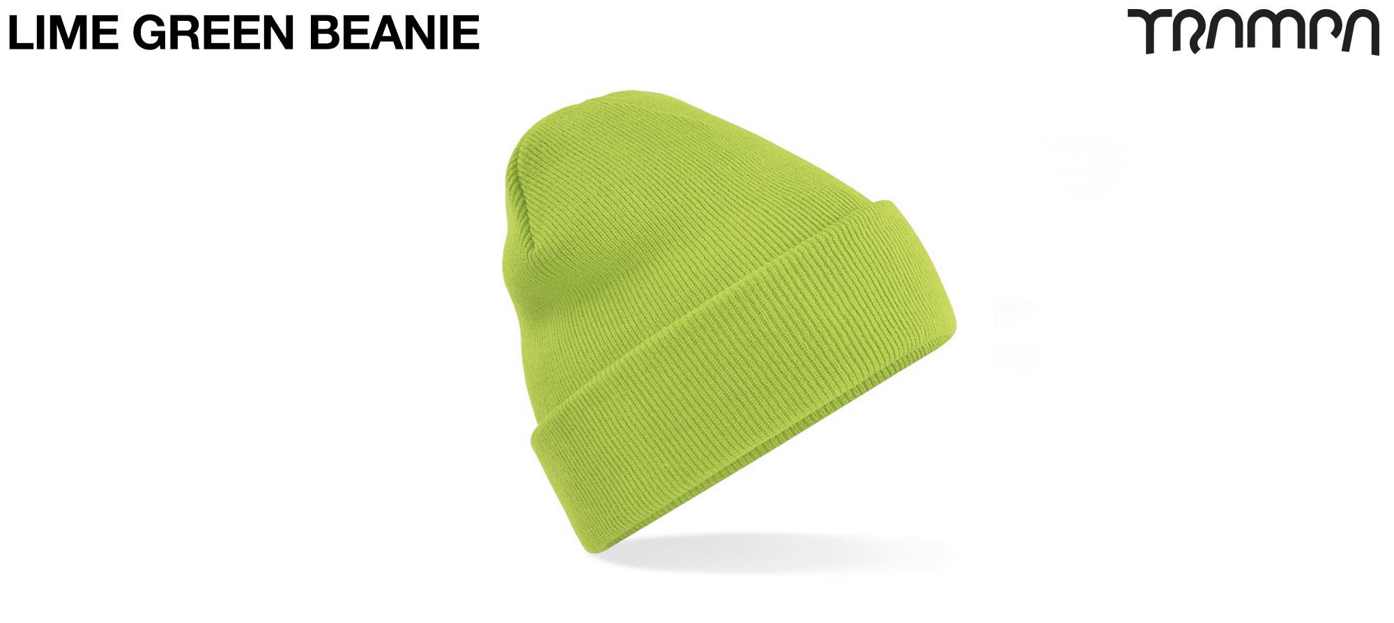 Wooli Hat Turn up - LIME