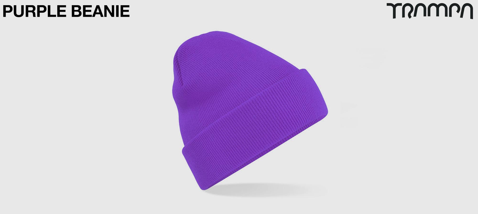 Wooli Hat Turn up - PURPLE
